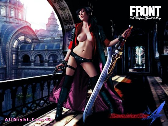 Vikki Blows в рекламе игры Devil may cry (3 фото)
