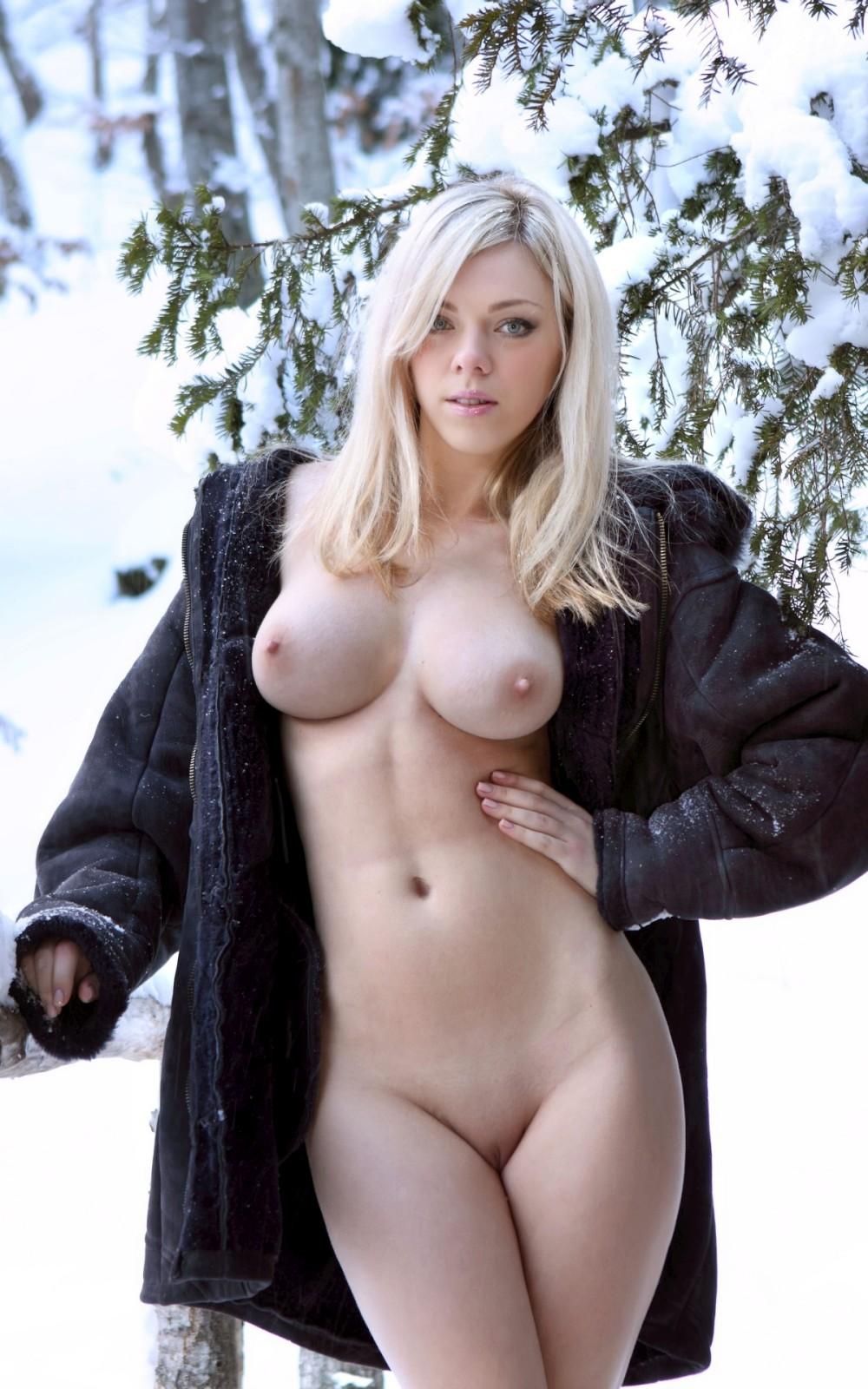 зимняя фотосессия лесби