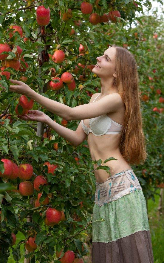 Эротика Mitzie в яблочном саду (14 фото)