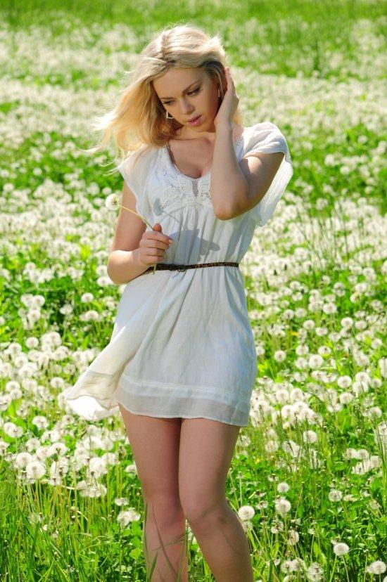 Нежности Lola на густо засеянной одуванчиками поляне (15 фото)
