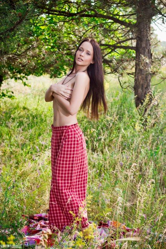 Пикник с постепенно оголяющейся Lina (30 фото)