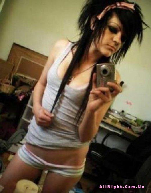 Emo girl upskirt panties